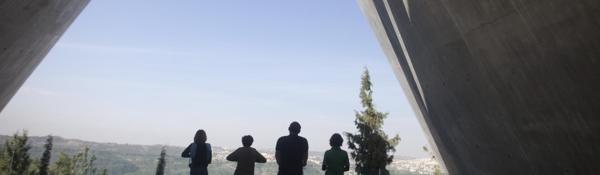 Panoramic view from the exit of the Holocaust History Museum (Lior Mizrachi-Yad Vashem)